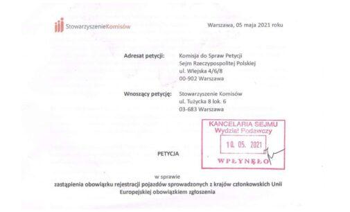 Petycja Skierowana do Sejmowej Komisji